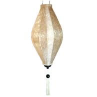 Sidenlampa - Citron - Vitsilver