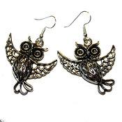 Örhängen - Tibet silver - Hollow Owl