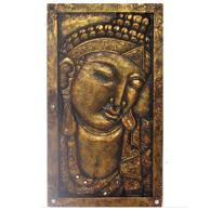 Budda Trätavla i guld - 65cm