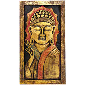 Tavla - Trä Budda