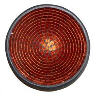 Mosaikskål - Rödguld