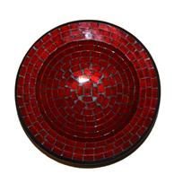 Mosaikskål - Röd