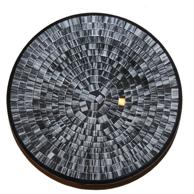 Mosaikskål - Svart/Vit