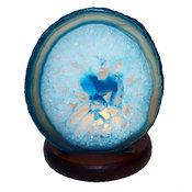Ljuslykta Agat - blå