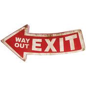 Plåtskylt Exit