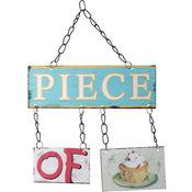 Plåtskylt Peace of Cake