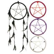 Drömfångare 45cm - Pentagram Svart