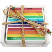Underlägg Mosaik Rainbow