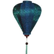 Sidenlampa - Ballong - Blågrön
