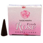 Rökelsekoner - Nag Champa Rose Dhoop Cones