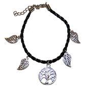 Armband - Svart / Tibet - Tree of Life / Blad