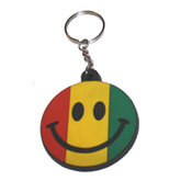 Nyckelring - Smiley Rasta