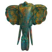 Elefantmask - Antikblå