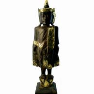 Stor Budda -  Trä/bladguld