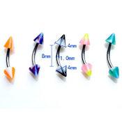 Böjd stav med färgade spetsar