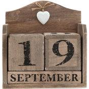 Kalender i trä - Heart