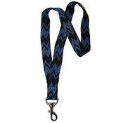 Nyckelband - Blå/svart