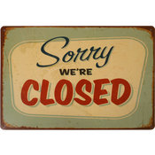 Plåtskylt - Retro - Closed