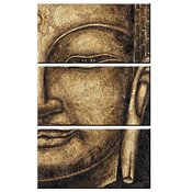 3-delad canvas tavla Budda